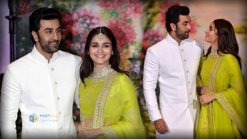 Alia and Ranbir in Soonam's wedding reception.