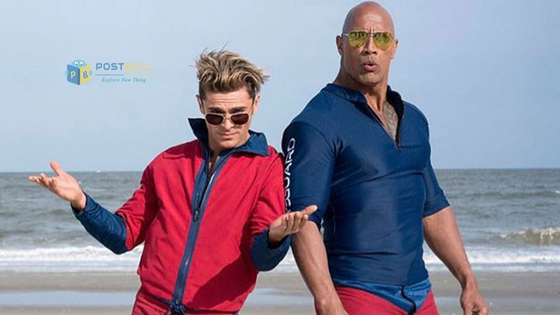 The Rock in Baywatch