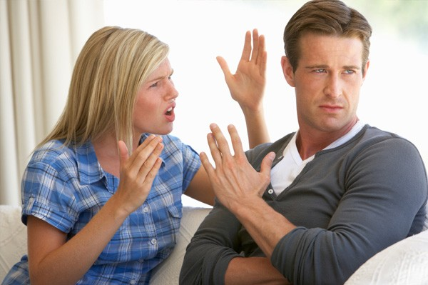 Couple argue