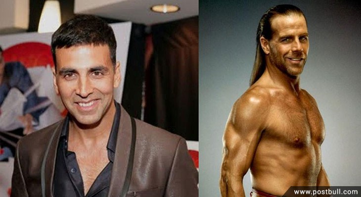 Akshay Kumar and Shawn Michaels